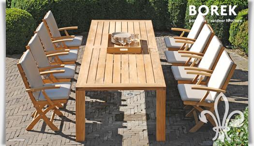 Teakholz gartenmöbel klappbar  Garten Sitzgruppe mit Klappstühlen & Gartentisch • Gartentraum.de