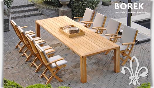 Gartenmöbel set alu holz  Garten Sitzgruppe mit Klappstühlen & Gartentisch • Gartentraum.de