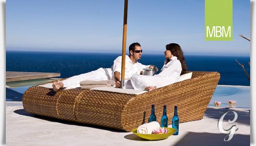 lounge relaxliege von mbm in rattan optik. Black Bedroom Furniture Sets. Home Design Ideas