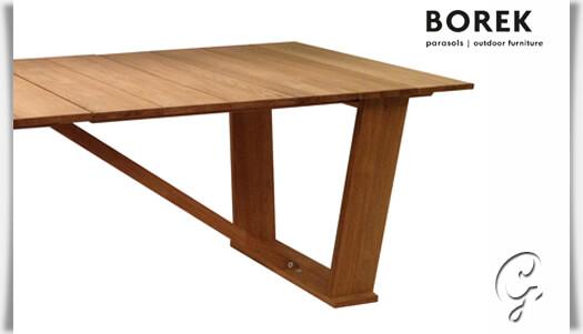 robuster gartentisch roma aus teakholz. Black Bedroom Furniture Sets. Home Design Ideas