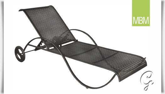 garten lounge liege mit rollen romeo mbm. Black Bedroom Furniture Sets. Home Design Ideas