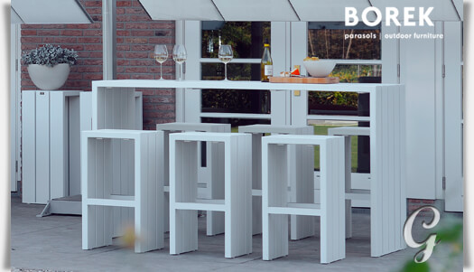 garten bar hocker samos von borek grau. Black Bedroom Furniture Sets. Home Design Ideas