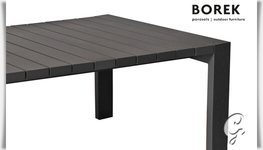 borek design gartentisch samos aus alu. Black Bedroom Furniture Sets. Home Design Ideas