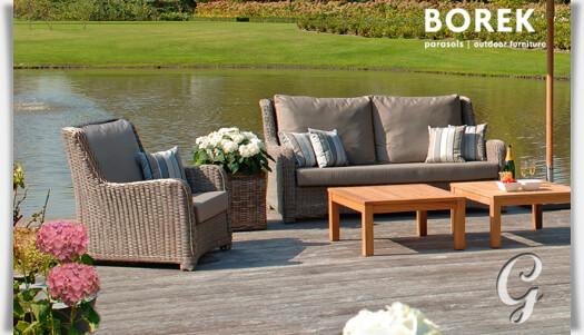 Garten Couch Outdoor Polyrattan Sofa Mit Auflage Kaufen Borek