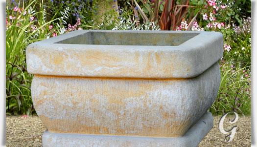 kleiner sandstein pflanztrog slavia. Black Bedroom Furniture Sets. Home Design Ideas