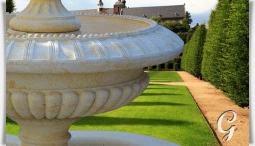 Großer Garten Kaskaden Brunnen - La Vilette ? Gartentraum.de Steinbrunnen Fur Den Garten