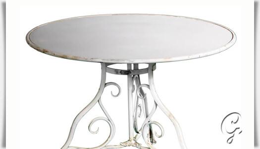 Gartentisch rund metall antik  Runder Gartentisch »Maurine« antik • Gartentraum.de
