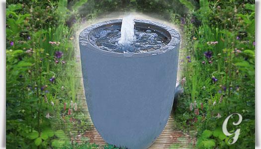 Kleiner Terrassenbrunnen Mit Pumpe
