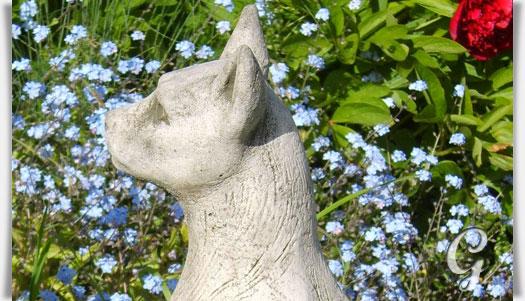 Deko steinfigur gyptische katze fiona jane scott - Tierfiguren fur den garten ...