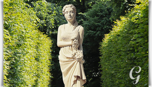 Garten statue vier jahreszeiten herbst for Gartenfiguren aus steinguss