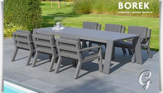 borek design gartentisch viking aus alu. Black Bedroom Furniture Sets. Home Design Ideas