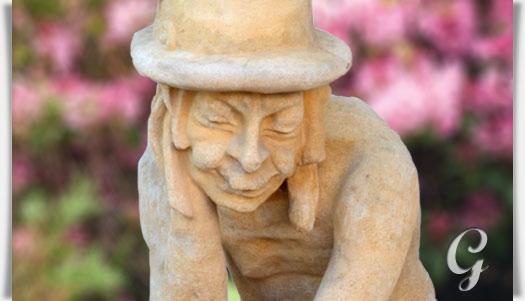 Gro e wassergeist steinskulptur p p crochet for Gartendeko stein