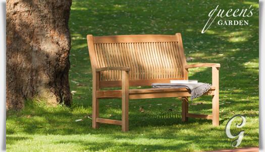 holz gartenbank york von queen 39 s garden. Black Bedroom Furniture Sets. Home Design Ideas