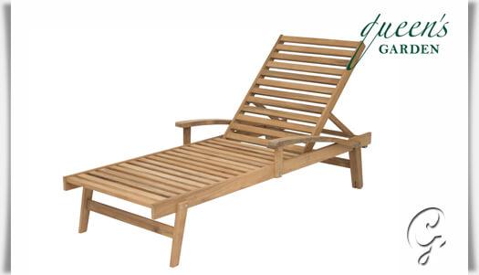 Sonnenliege teak  Sonnenliege »York« für Terrasse & Garten • Gartentraum.de