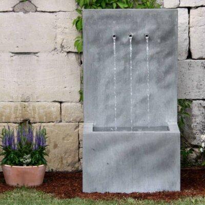 Wandbrunnen aus Zink für Terrasse & Garten