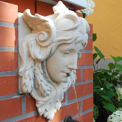 Wandbrunnen mit Wasserspeier für die Terrasse & Garten