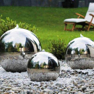 Edelstahlkugeln als moderne Quellsteine