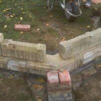 7. Schritt: Mauern der Ruine errichten