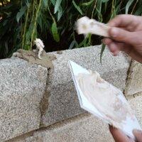 11. Schritt: Mauerwerk richtig verfugen
