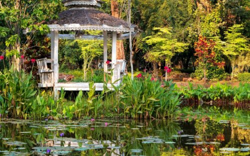 Gartenpavillon aus Holz  Metall & Alu