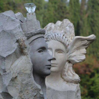 Gartengestaltung der Vittoriale degli italiani
