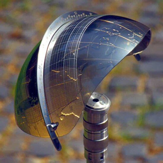 Präzisionssonnenuhr aus Edelstahl