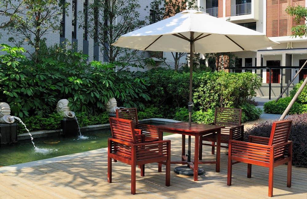Sonnenschirm-Tisch-Befestigung-Garten