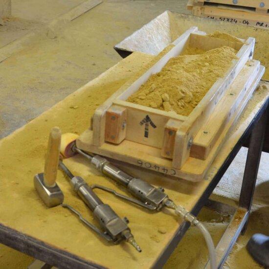 Vorbereitung des Steingusses