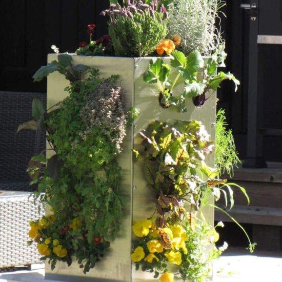 Hochbeet als vertikaler Garten (2)