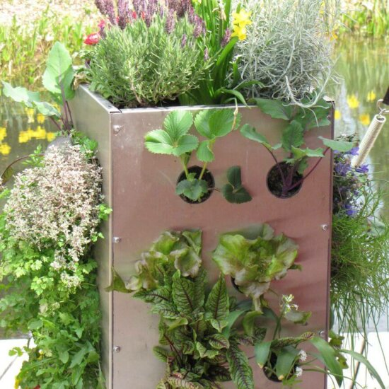 Hochbeet als vertikaler Garten (1)