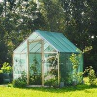 Temperiertes Gewächshaus im Garten