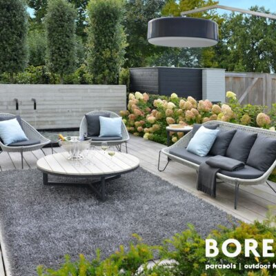 Moderne Lounge Sessel aus Polyrattan © BOREK