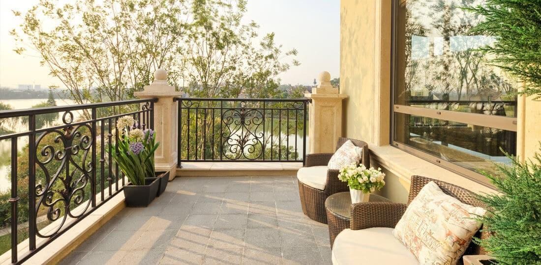 Balkonmöbel aus Polyrattan