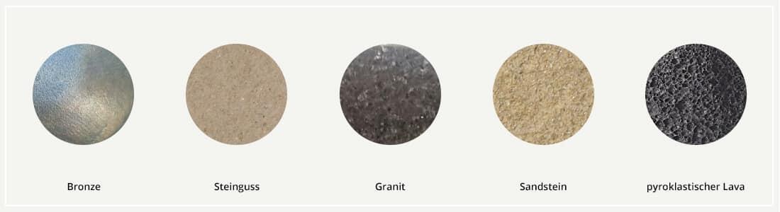 Steinlaternen-Materialien