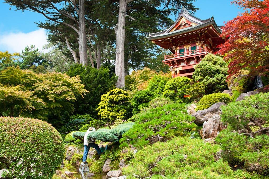 Die Lehre von Yin & Yang kann in die Gartengestaltung integriert werden.