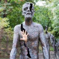 Moderne Bronzeskulptur Statue für den Garten