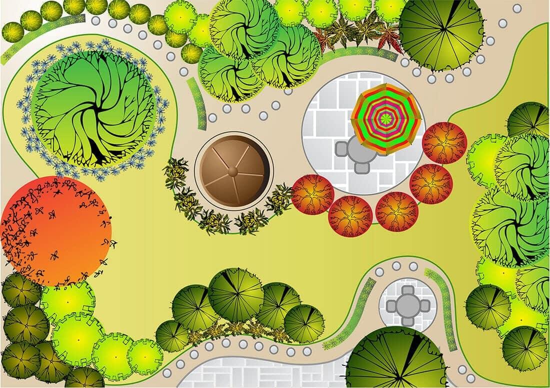 Per Computer geplanter Garten (3)