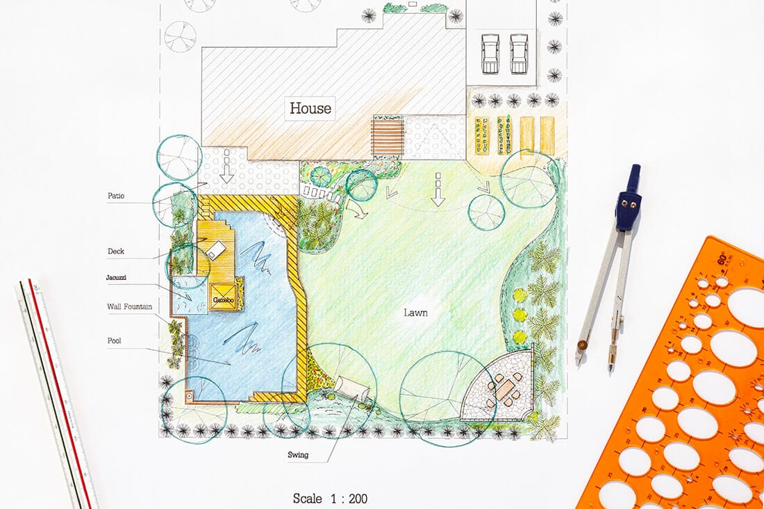 Bauplatz Garten