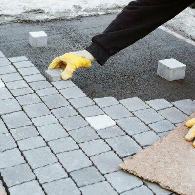 Pflastersteine als Terrassenboden