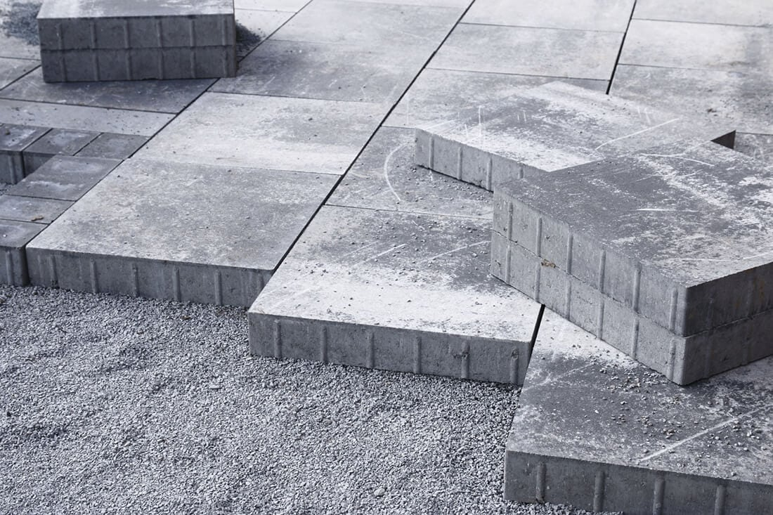 Terrassenplatten Verlegen Beton Splitt Erde Mortel Video