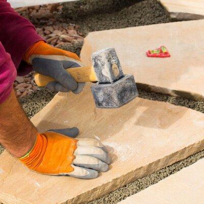 Terrassenplatten aus Sandstein