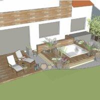Beispiel 3D-Visualisierung vom Gartendesigner © Schradi