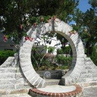 Kunstobjekt aus Stein