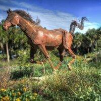 Pferde Skulptur in Bronze