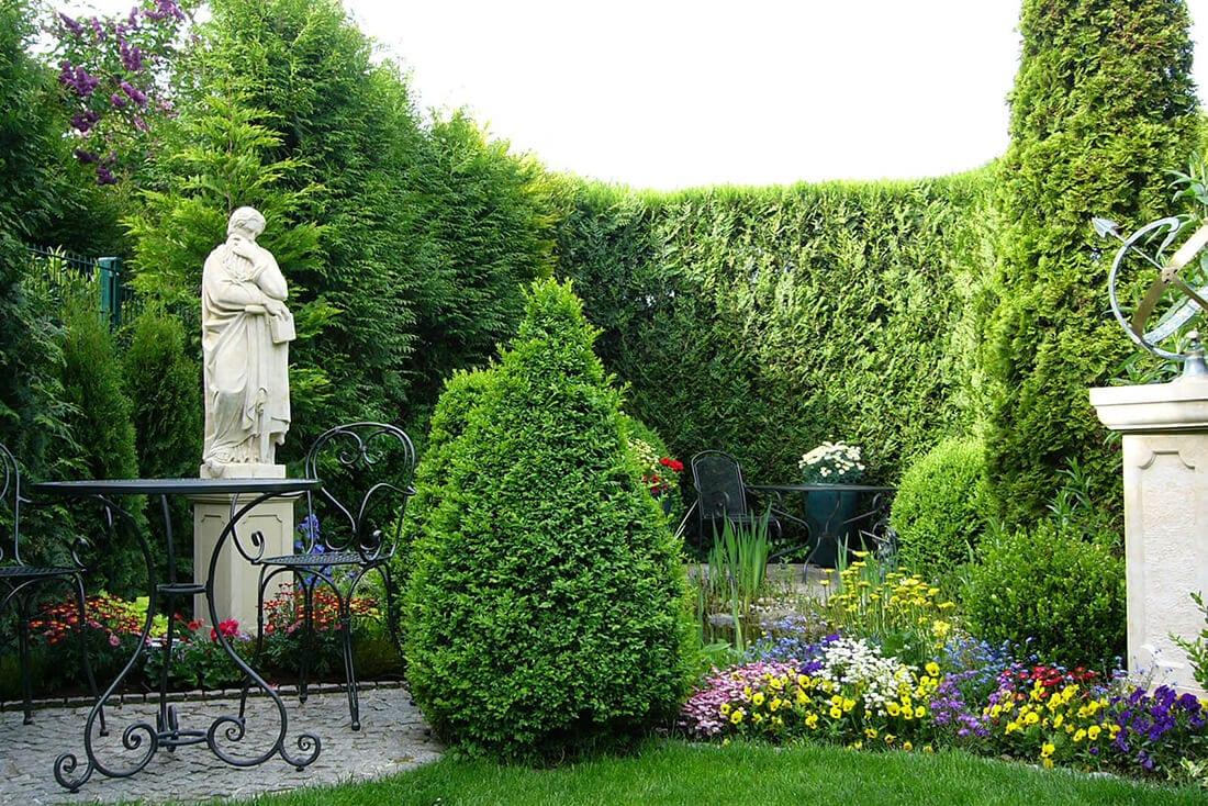 Gartendekoration perfekt kombiniert