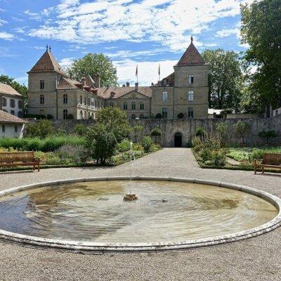 Schlichter Springbrunnen