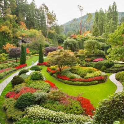 Wunderbar durchgeplanter Garten mit klaren Strukturen © © kavramm - Depositphotos.com