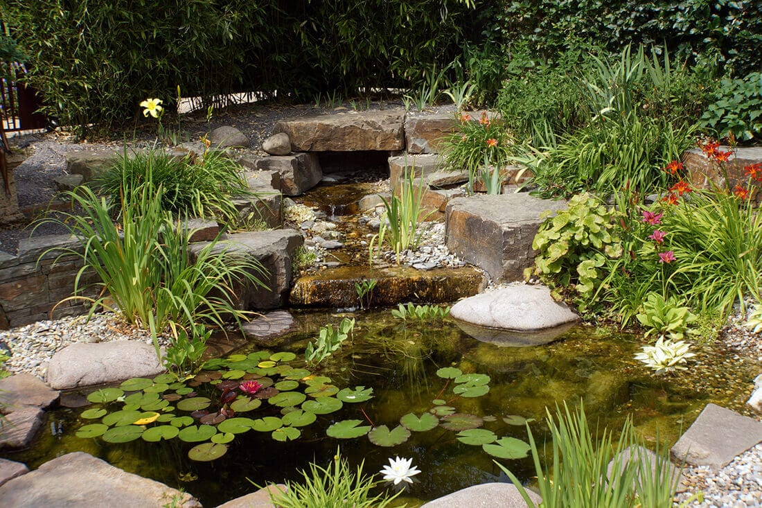 Bachlauf Teich klein