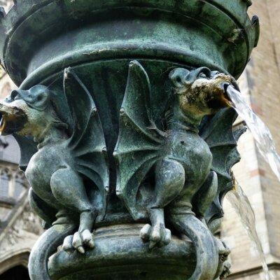 Gargoyles als Wasserspeier