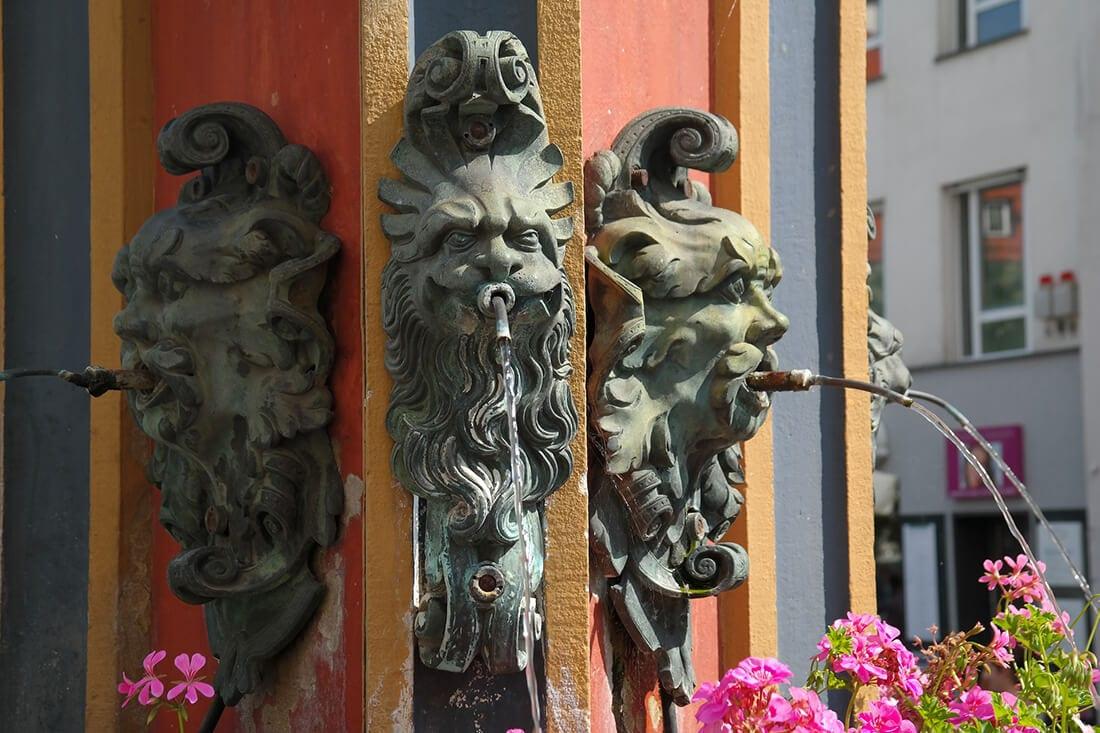 Gargoyle-Wasserspeier aus Naturstein